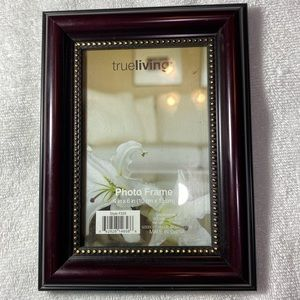 Picture Frame 4x6 Brown Wood Frame Photo Gold